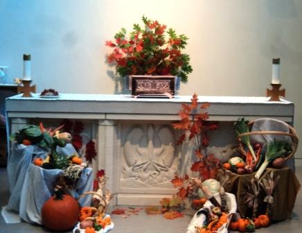 Canadian Thanksgiving Day last Monday at the convent of the Sisters of St. John the Divine, Toronto. (Hyacinth Victoria)