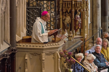 The Most Rev. Don Bolen will become Archbishop of Regina, Saskatchewan this evening, and we ask your prayers for him, the archdiocese and his people. He is seen above preaching at an Anglican-Roman Catholic event. (Anglican Communion Office)