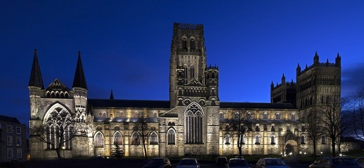 Durham Cathedral, England, a World Heritage Site. (Stainton Lighting Design)