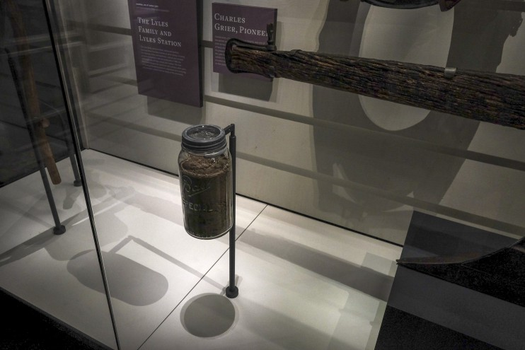 This display at the new National Museum of African American History and Culture in Washington consists of one thing – a Mason jar of dirt – yet it is the most important thing about its subject: the settlement of Lyles Station, Indiana, one of hundreds of farming villages established throughout the USA by free Blacks before and after the Civil War (1861-65). The people weren't property anymore, they were owners – and in a few cases, including Lyles Station, their descendants still are. Owning land meant they could live in freedom; land gave them their self-respect and their dignity. (Bonnie Jo Mount/The Washington Post)