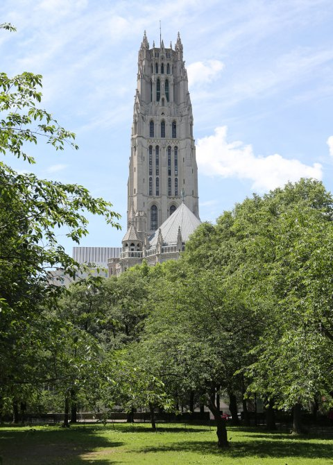 Riverside Church in New York City, affiliated with the United Church of Christ and American Baptist Churches, has a prestigious history, in part because of the era in which it was built (1930, in the last fading glory of Mainline Protestantism) and in part because of all the money poured into it by John D. Rockefeller, Jr. in the days of Harry Emerson Fosdick, the founding pastor. Going on 90 years later, the church can point proudly to its distinguished speakers (Dietrich Bonhoeffer, Martin Luther King Jr., Nelson Mandela), mission and social activism, peace and justice. (Chester Higgins Jr./The New York Times))