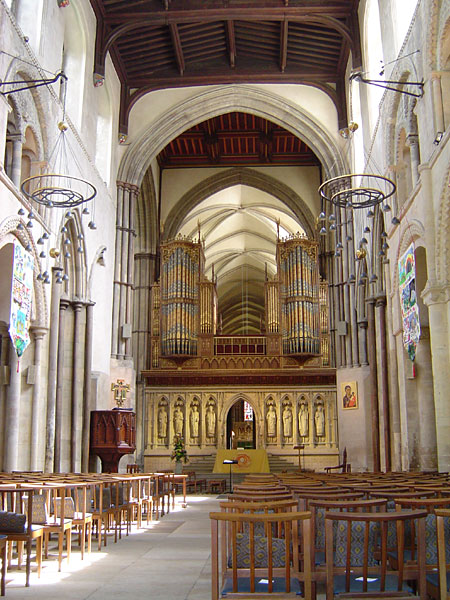 Rochester Cathedral, Kent, England, a Grade I listed building from 1079, early in the Norman Era. (source unknown)