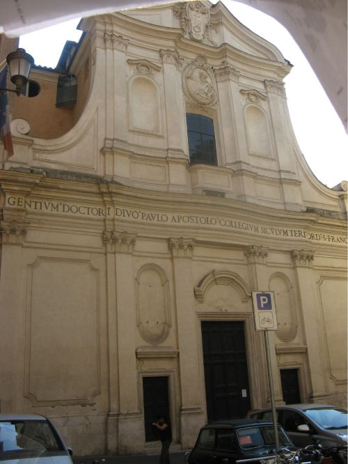 Church of St. Paul alla Regola in Rome, built on the site where the apostle was kept under house arrest as described in the lesson below. (Fr. Gary Coulter)