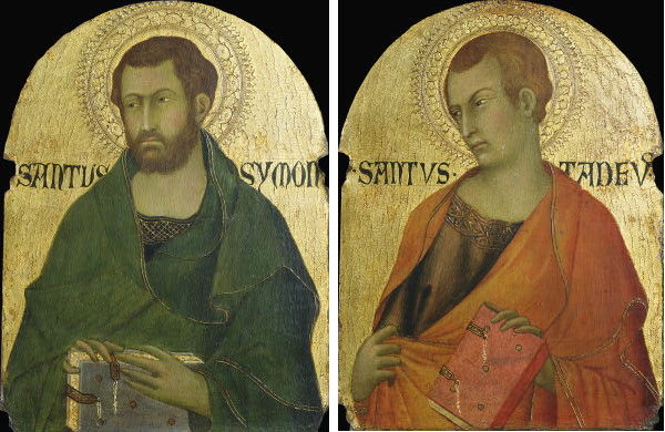 St. Simon and St. Jude; Jude is one of the patron saints of the Armenian Apostolic Church as the first to bring the Gospel to that country. Very little is known of Simon the Zealot, but it's assumed he was an evangelist in various places around the Mediterranean, and at least three cities claim he was martyred there. (For All the Saints blog)