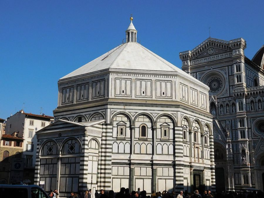 Baptistry St. John, in front of the Florence Duomo: that's quite a font. (Wikipedia)