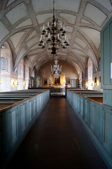 Chapel of Kalmar Castle, Sweden, where the first fortifications rose in the 13th Century. (Wikipedia)
