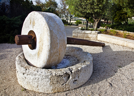 A millstone in Israel. (imgbuddy.com)