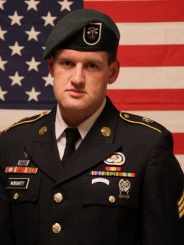Staff Sgt. James F. Moriarty grew up in Houston and graduated from the University of Texas with a degree in economics. He was serving overseas for the second time. (Army photo)