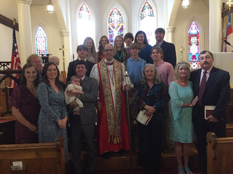 At Church of the Nativity, Greenwood, Mississippi last week, Bishop Brian Seage baptized two, confirmed 16, received three and reaffirmed two at his annual visitation. In today's post-Christian environment, this is a stellar record for a smalltown parish – but you can find similar numbers all over the diocese. (diocesan photo)
