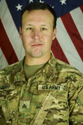 Sgt. Perry enlisted in 2008 as a test, measurement and diagnostic equipment maintenance support specialist. He deployed to Afghanistan from August 2010 to July 2011 before deploying again in September of this year. (U.S. Army)