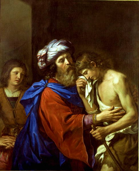 Guercino, 1651: Return of the Prodigal Son. This is the later of two paintings the artist made on this subject.