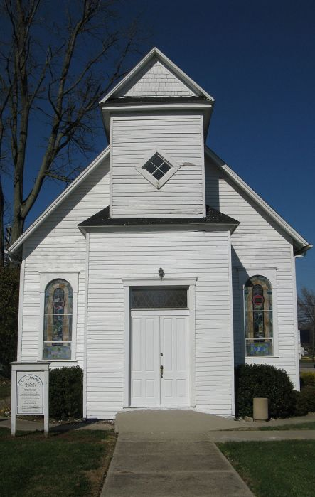 St. Stephen's African Methodist Episcopal Church, Hanover, Indiana, a small town just across the Ohio River from Kentucky, a former slave state. If escapees could get across the river, they could be free (except for the Fugitive Slave Act); this church no doubt received some refugees for freedom. (Wikipedia)