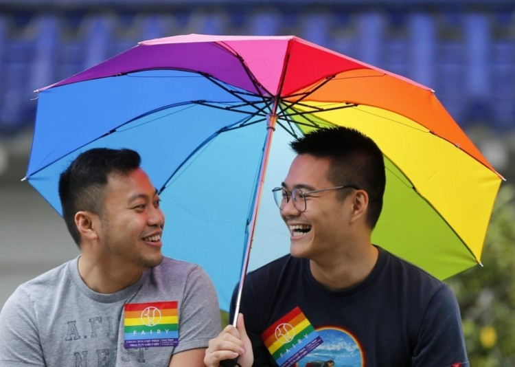 LGBT rights are slowly advancing in Taiwan; President Tsai Ing-wen recently announced support for a new effort to legalize same-sex marriage, and Pride Day in Taipei, above, is the largest in Asia. (Ritchie B. Tongo/European Pressphoto Agency)