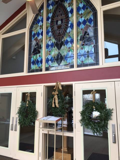St. Matthew's, Indianapolis, ready for Christmas visitors. (parish photo)