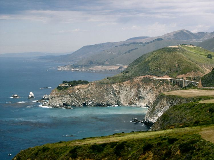 Big Sur, California, looking north toward Monterey. (Wikipedia)