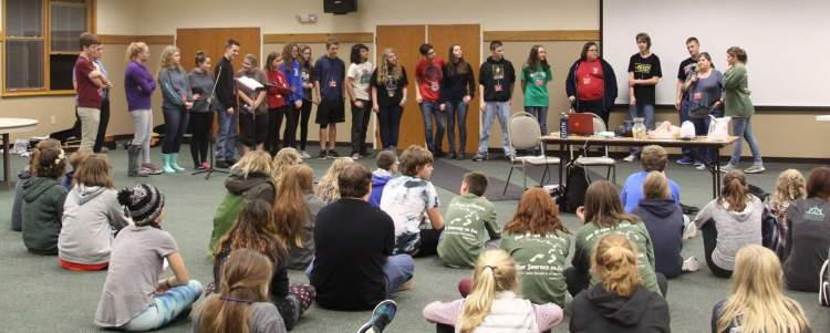 Fall youth conference last weekend at Waycross, nature's cathedral in the Diocese of Indianapolis. (diocesan photo)