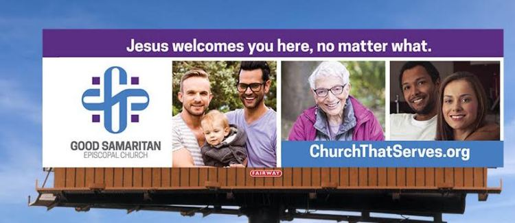 Billboards are going up announcing the new Church of the Good Samaritan in Brownsburg, Indiana, the first new startup in decades in the Diocese of Indianapolis. (The Rev. Gray Lesesne)