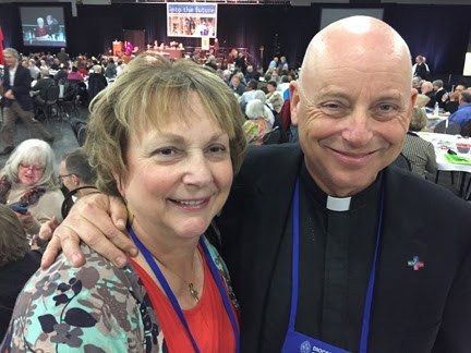The Rev. John H. Taylor was elected Bishop Coadjutor of Los Angeles last weekend on the 8th ballot. He is a former chief of staff to Richard M. Nixon and former director of the Nixon Presidential Library, seen here with his wife Kathleen H. O'Connor. (diocesan photo)