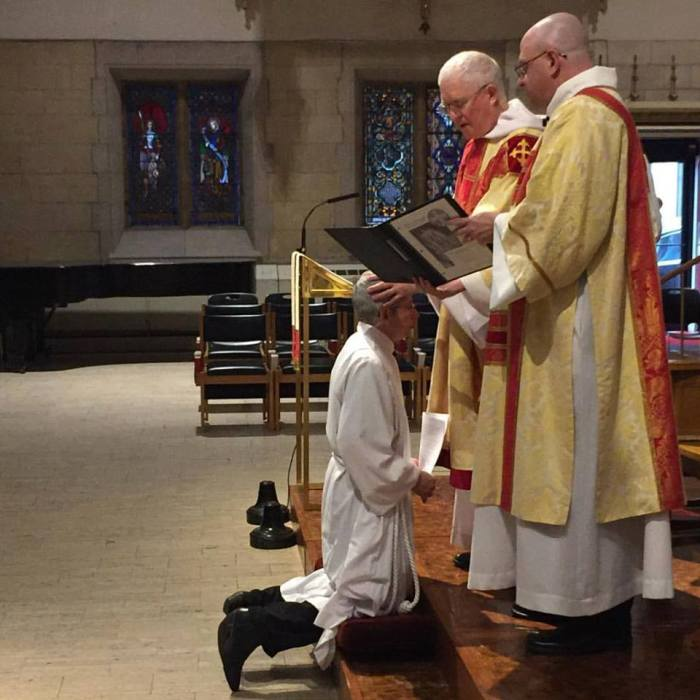 Maria ordained by the Rt. Rev. Wayne Smith, Bishop of Missouri, Saturday morning. (via Deacon Leslie Scoopmire)