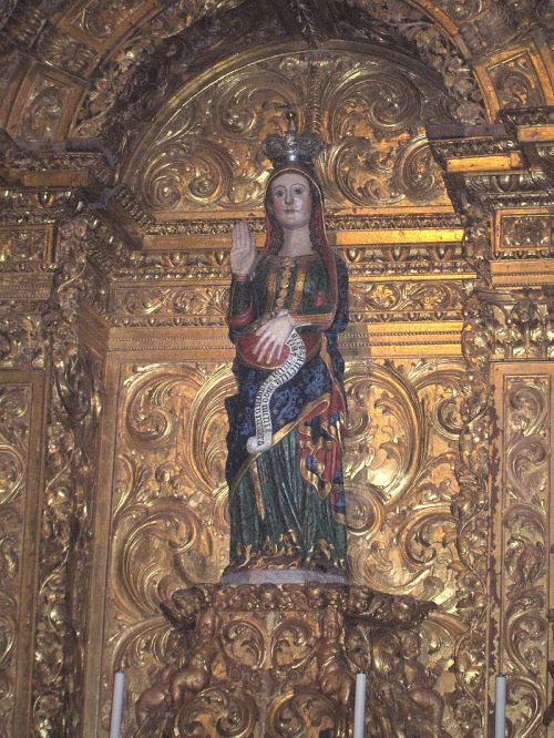 A rare work of art showing the Virgin Mary with child, in Évora, Portugal. (Wikipedia)