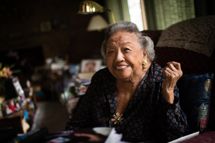 The opening of the African-American Museum of History and Culture in Washington, D.C. last fall caused a team of journalists to visit the home of Cecilia Marshall, the widow of civil rights giant Thurgood Marshall, the first black justice of the U.S. Supreme Court; she keeps her own Thurgood shrine of photos and memories. He was 46 and she was 26 when they married; they had two sons, both distinguished lawyers. She was born in Hawai'i of Filipino immigrants; her father forbade her to marry her first choice, another Filipino who didn't speak the right dialect, so she married Thurgood, a foot and a half taller and a different race entirely. It worked out pretty well; he would tease her about being short, and she would threaten to stand on a chair and beat him up. He was the cook, while she followed behind cleaning up after him, knowing he'd dirty every dish in the house. They met in New York when an employment agency took one look at her and sent her to his employer, the National Association for the Advancement of Colored People. He saw her and wondered what the heck was going on now. (Sarah L. Voisin/Washington Post)