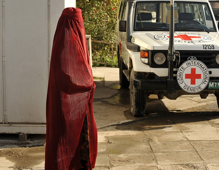 Six International Red Cross workers were killed Wednesday in Kabul, Afghanistan for trying to help people. (File photo from 2008 by Sha Marai/AFP)