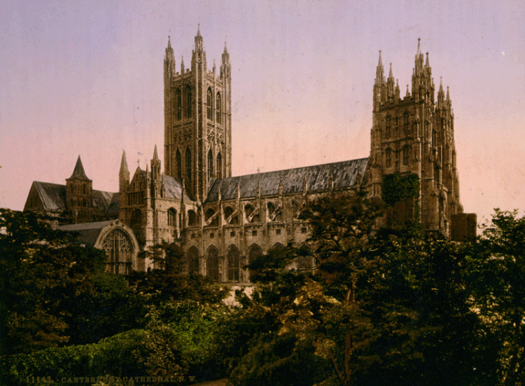 Canterbury Cathedral around the turn of the 20th Century. (Library of Congress)