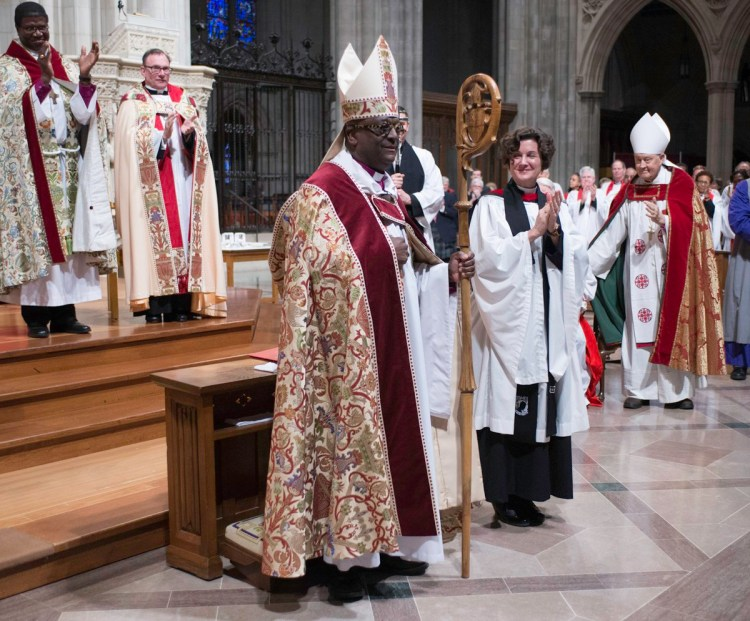 The Rt. Rev. Carl Wright was consecrated Suffragan Bishop for the Armed Forces and Federal Ministries Saturday at Washington National Cathedral. He is a former Air Force chaplain. (Donovan Marks/cathedral photo)