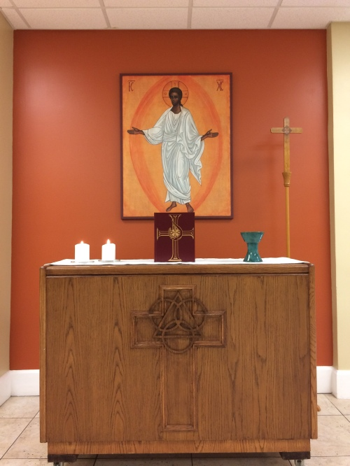 Br. John Huebner, CG, of our U.S. congregation has been busy renovating and creating a new worship space for the Church of the Advocate, a mission to homeless and vulnerable street people in Asheville, North Carolina. As you can see, it's already a holy place by all the love and care that went into it.
