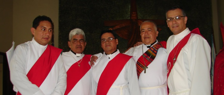 Deacons of the Diocese of Litoral Ecuador. (diocesan photo)