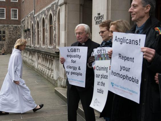 "England's General Synod tossed out its latest bishops' report on sexuality and marriage Tuesday after it lost in the House of Clergy. According to British media, the report reaffirmed current policy against blessing same-sex marriage, which is legal in civil society, but called for ""a new tone"" toward LGBTs. The decision is seen as another defeat for the Archbishop of Canterbury on his home turf. He promised that another report will be prepared, in hopes he can say the same thing but differently. (Press Association)"