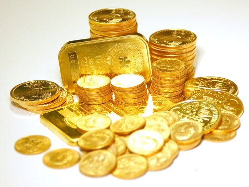 Gold bars and coins. (Pinterest)