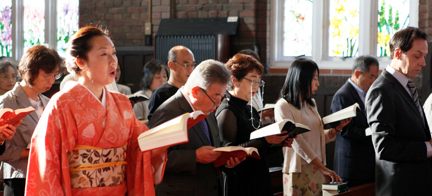 Members at worship at an unidentified Japanese Anglican church. (Anglican Communion website)