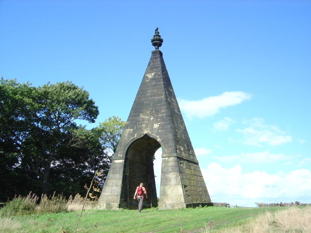 A folly called the Needle's Eye on the Wentworth Woodhouse estate in North Yorkshire, England. The story is that the earl liked to brag about his driving prowess; he could drive his carriage and a team of horses through the eye of a needle. One of his companions didn't believe him, so he built the eye of the needle to prove it. (Christopher Thomas)