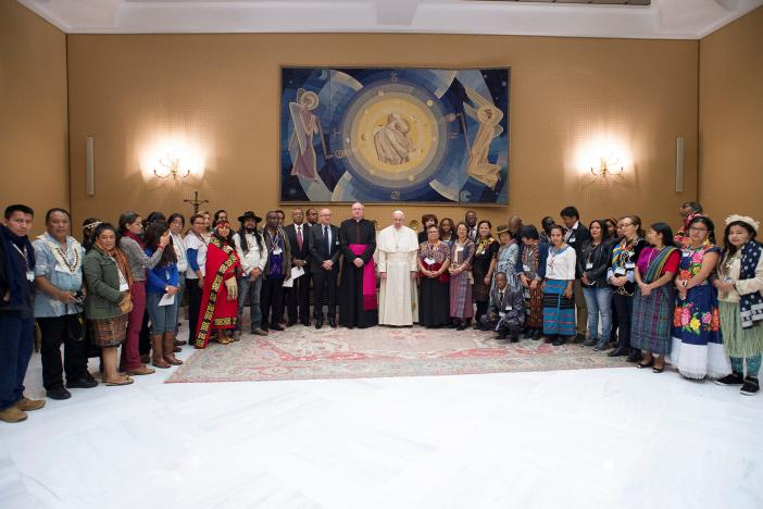 "Pope Francis all but endorsed the Standing Rock protests yesterday in Rome during a meeting with Indigenous members of the International Fund for Agricultural Development. He did not mention the North Dakota protest by name, but said, ""In this regard, the right to prior and informed consent (of native peoples) should always prevail,"" citing the 1997 U.N. Declaration on the Rights of Indigenous Peoples. The Trump Administration has reversed U.S. policy on completing a massive oil pipeline on former tribal lands just a mile from the current reservation boundary. (Osservatore Romano)"