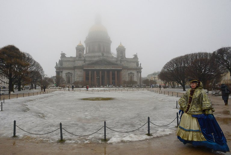 The Russian government proposes to return St. Isaac's Cathedral, St. Petersburg, to Orthodox control; it's been a museum since 1928. This is apparently part of Vladimir Putin's campaign to strengthen Russian conservatives for nationalist purposes. But many local residents don't want the church to return to the hierarchy; they prefer it secular and the bishops on a leash. (Olga Maltzeva/Agence France-Presse)