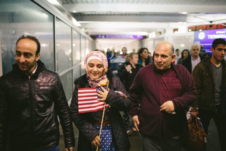 Yesterday the U.S. Court of Appeals for the Ninth Circuit, based in San Francisco, unanimously affirmed a lower court ruling blocking the Trump Administration's travel ban on entry by refugees and citizens of seven predominantly Muslim countries, allowing this family of Syrian refugees to walk in via Chicago's O'Hare Airport. But refugees and visa holders will face continued uncertainty and fear until the Supreme Court issues a final decision. (Alyssa Schukar/The New York Times)