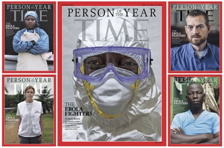 A Liberian nurse who was featured on the cover of Time magazine when Ebola fighters were named Persons of the Year, has died shortly after giving birth in a most tragic, heartbreaking way. Salome Karwah, top left, contracted the virus, was able to recover from it, and devoted the rest of her young life to helping victims. When she developed complications after giving birth to her fourth child, she was taken to the hospital, but the nurses there would not touch her or attend to her. Effective treatments exist for her seizures, but she was allowed to convulse alone. Experts blame a lingering stigma even against survivors of the virus, as if touching them would somehow bring it back to life. When nurses refuse to treat even another nurse who objectively represents no threat to them, it shows the depth and power of the superstition in Liberian society - and just how much our Cuttington University nursing students and faculty are up against in trying to fight ignorance with knowledge - and the importance of our Daily Office Network's financial commitment to support the students' education. We don't know whether Salome Karwah was a Cuttington nurse - but she sure sounds like one. We mourn her unnecessary death and renew our commitment to our cousins in Bong County.